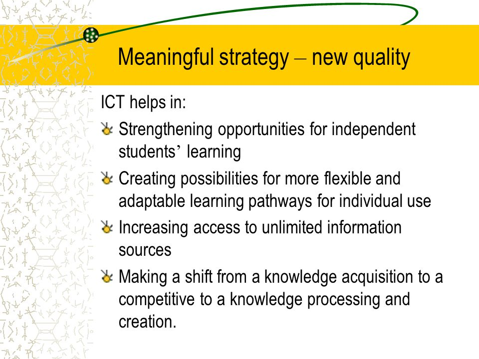 Meaningful strategy – new quality