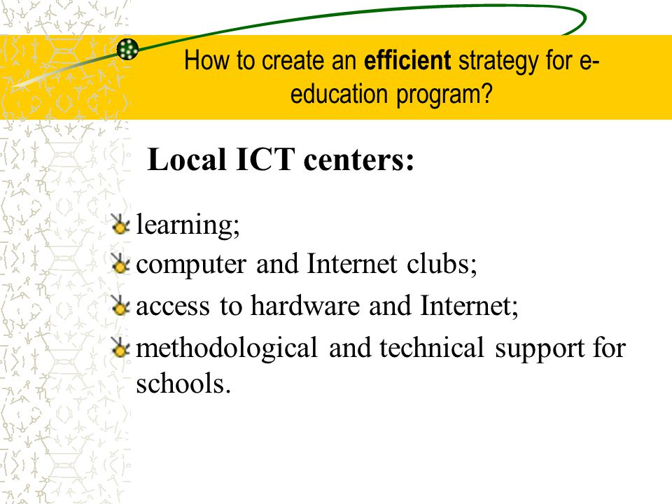 How to create an efficient strategy for e-education program