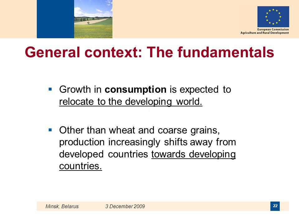 General context: The fundamentals