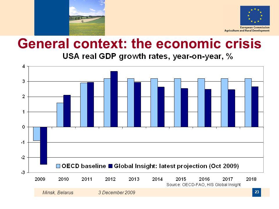 General context: the economic crisis