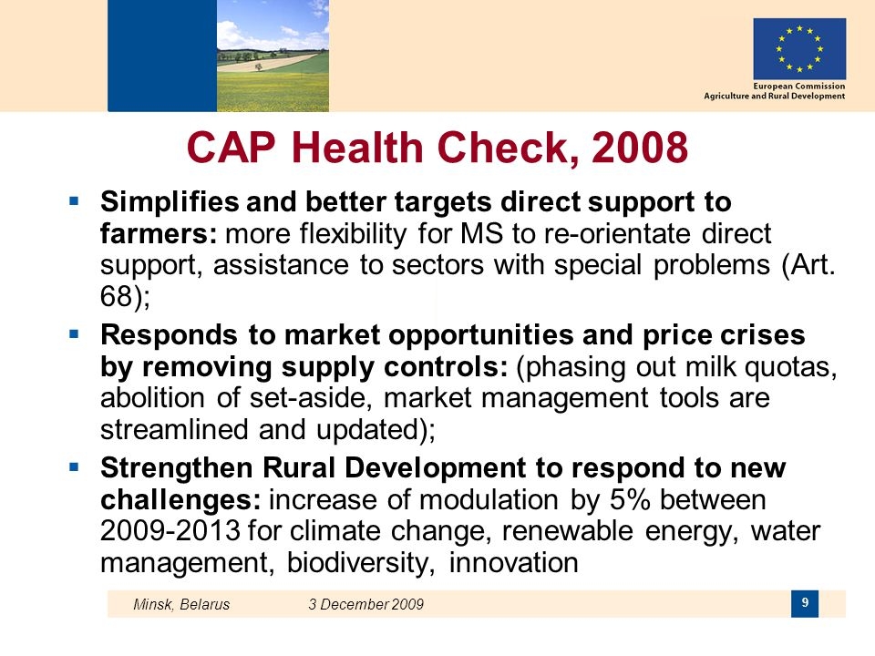 CAP Health Check, 2008