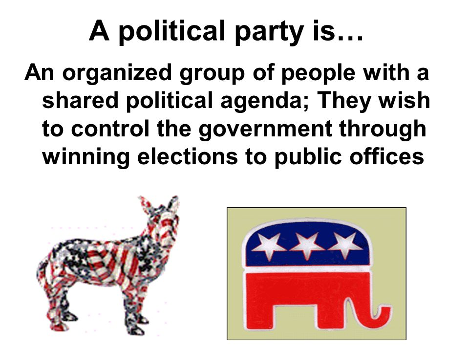 A political party is…