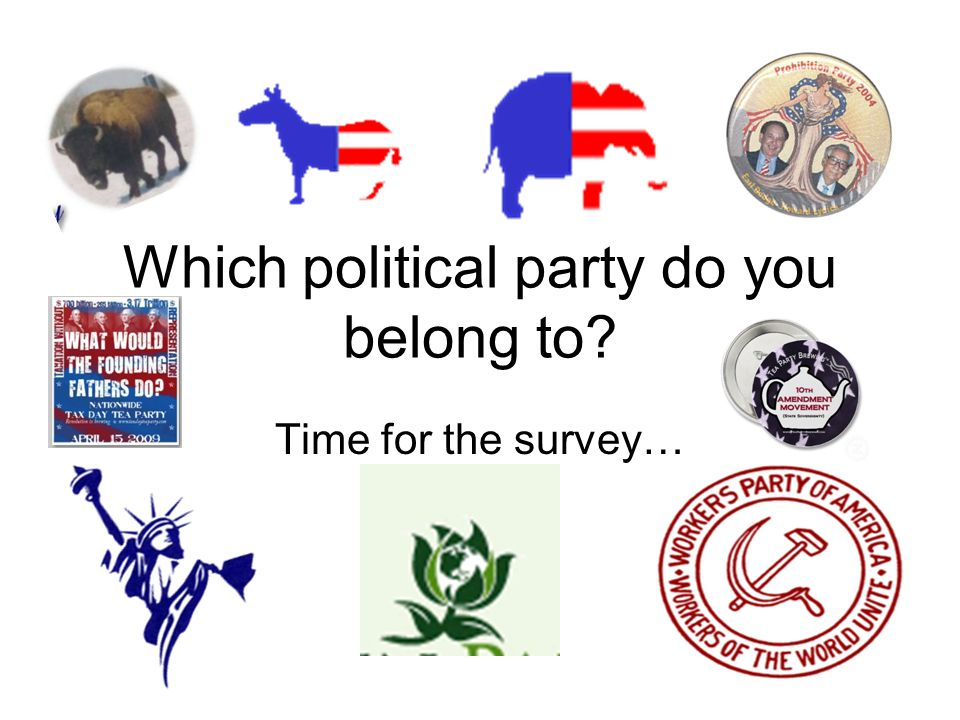 Which political party do you belong to
