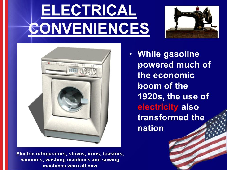 ELECTRICAL CONVENIENCES