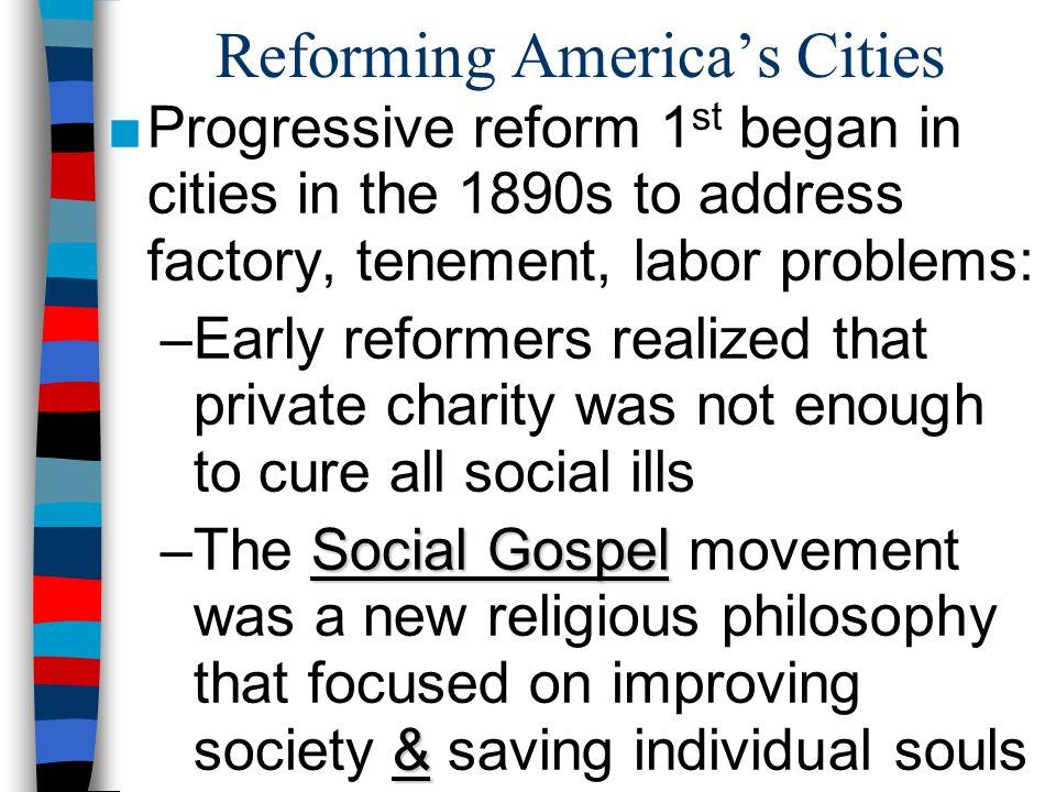 Reforming America's Cities