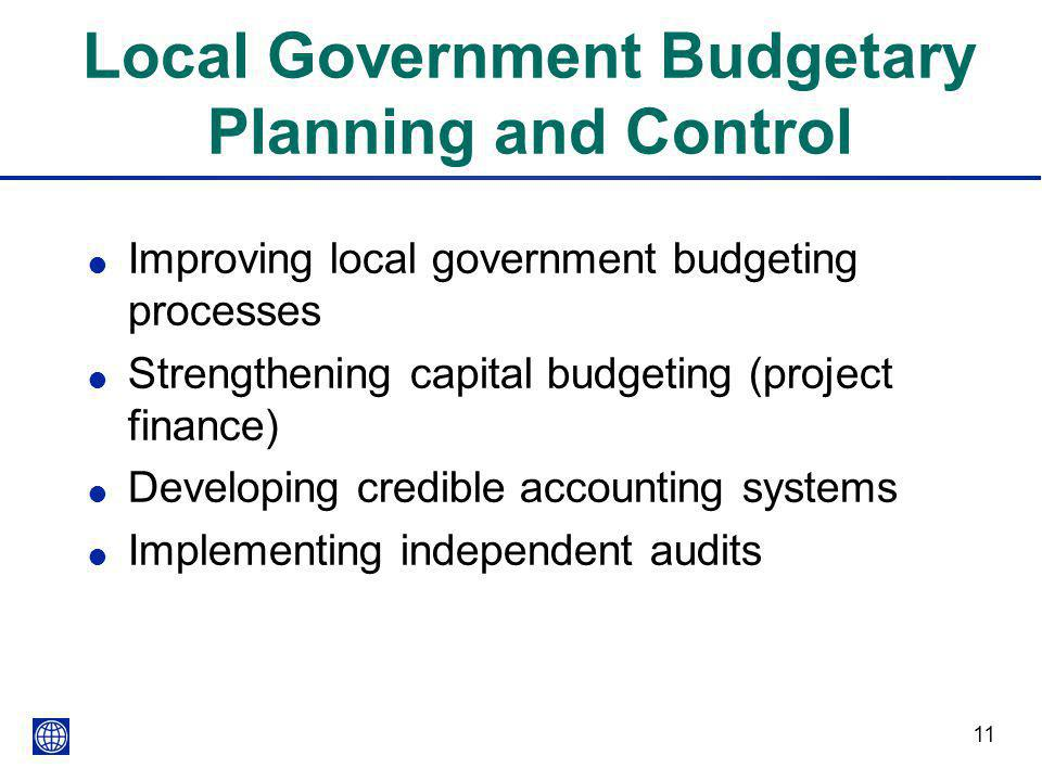 Financial Analysis, Planning & Controlling Budgets
