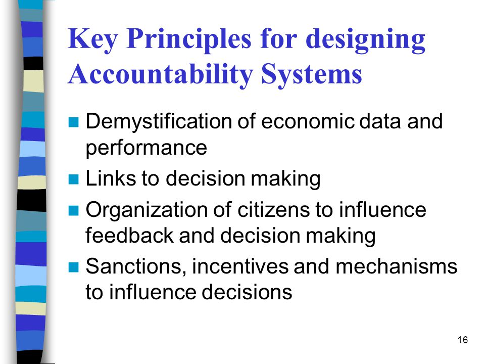 Key Principles for designing Accountability Systems