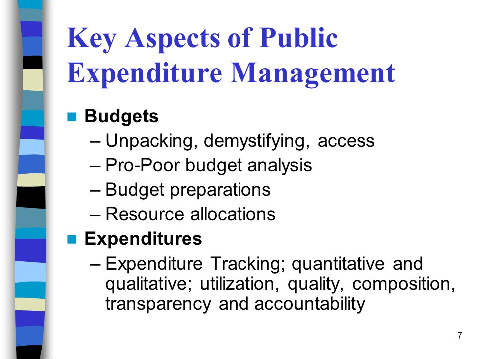 Key Aspects of Public Expenditure Management