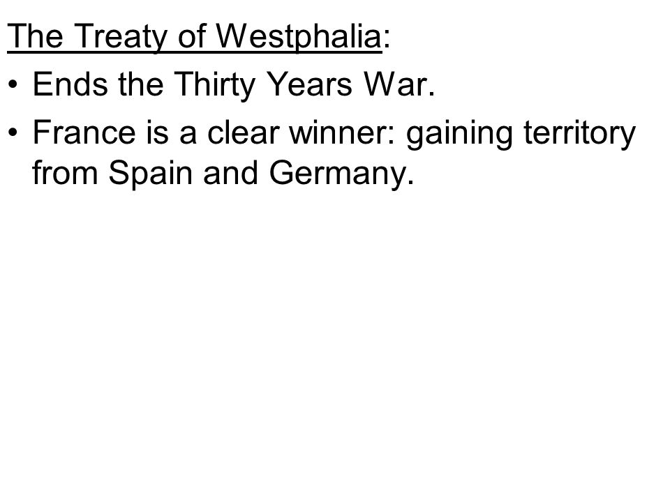 The Treaty of Westphalia: