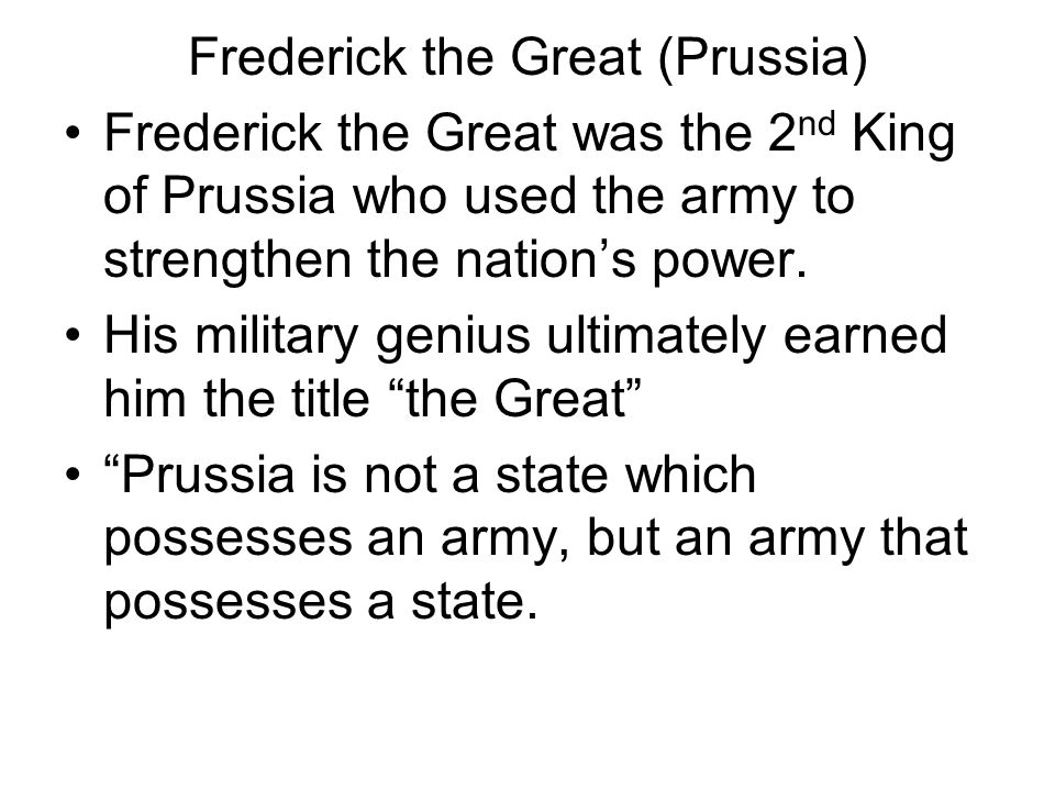Frederick the Great (Prussia)