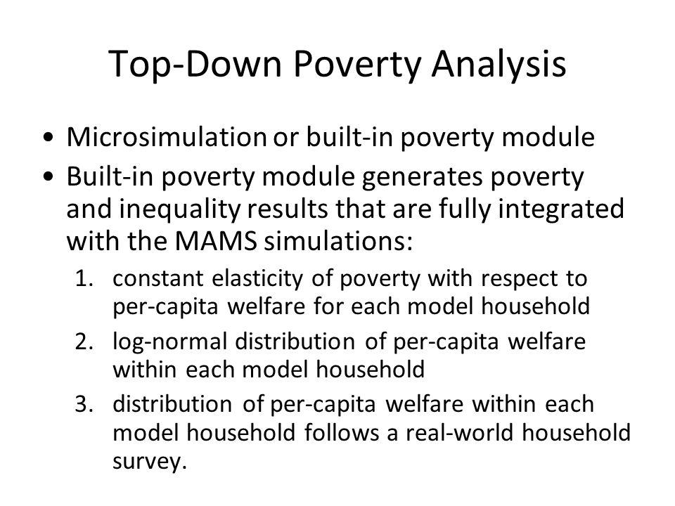 Top-Down Poverty Analysis