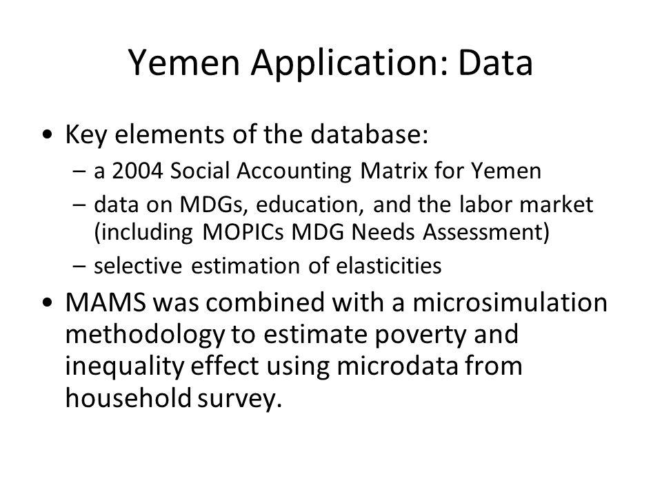 Yemen Application: Data
