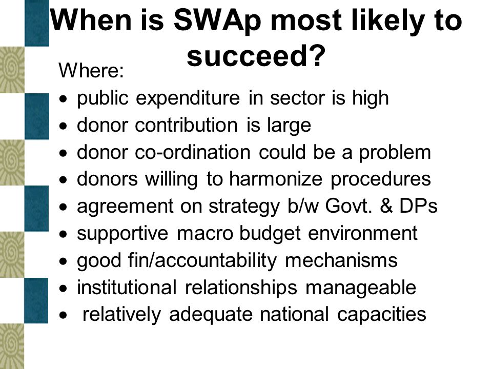 When is SWAp most likely to succeed