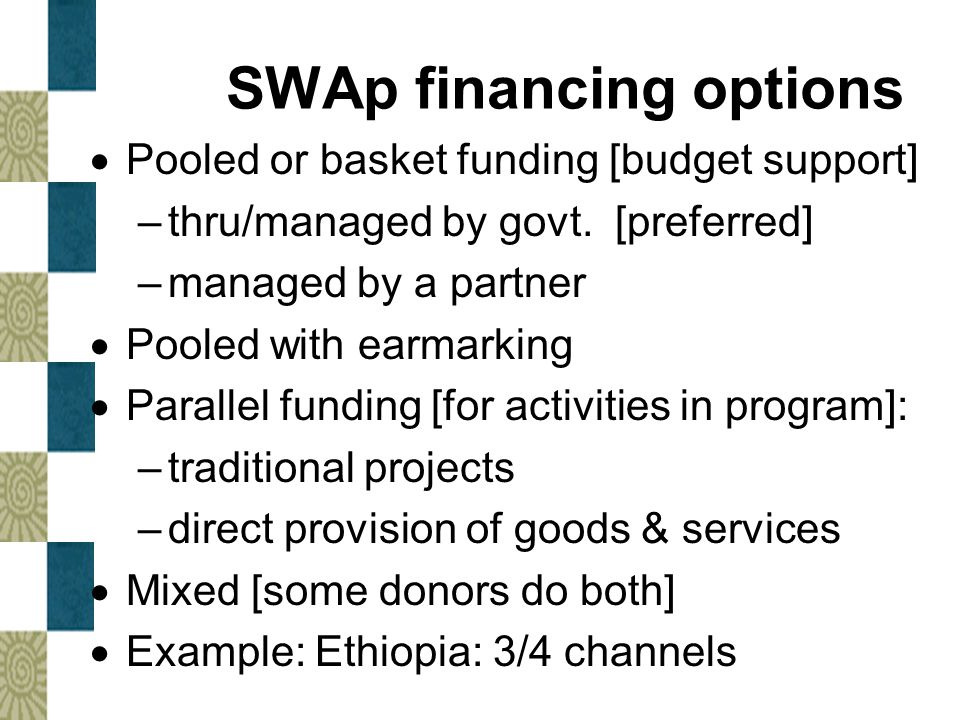 SWAp financing options