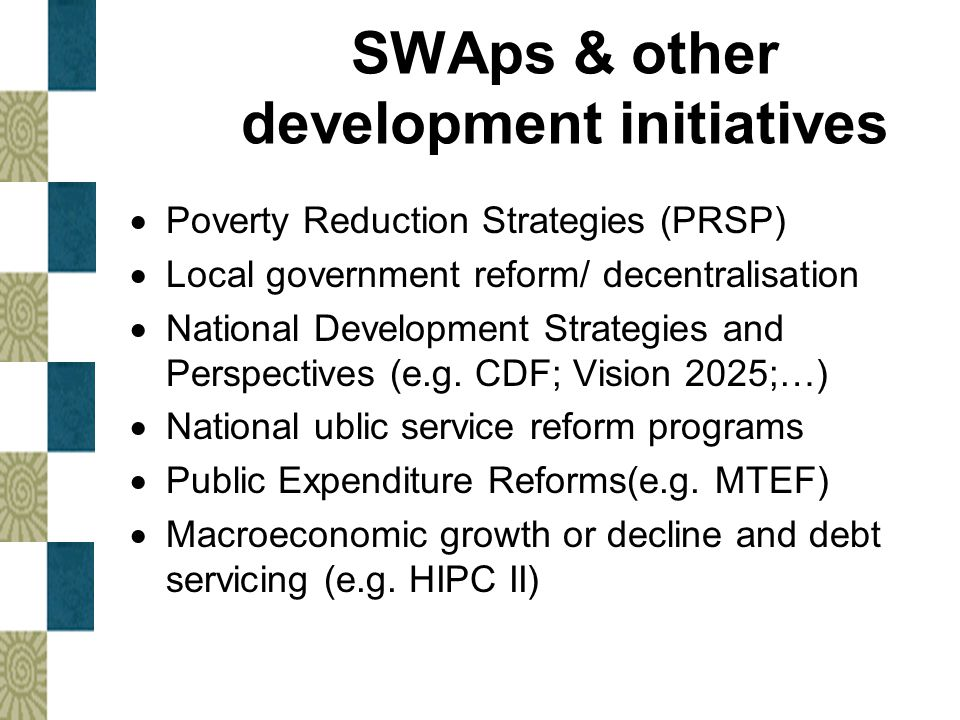SWAps & other development initiatives