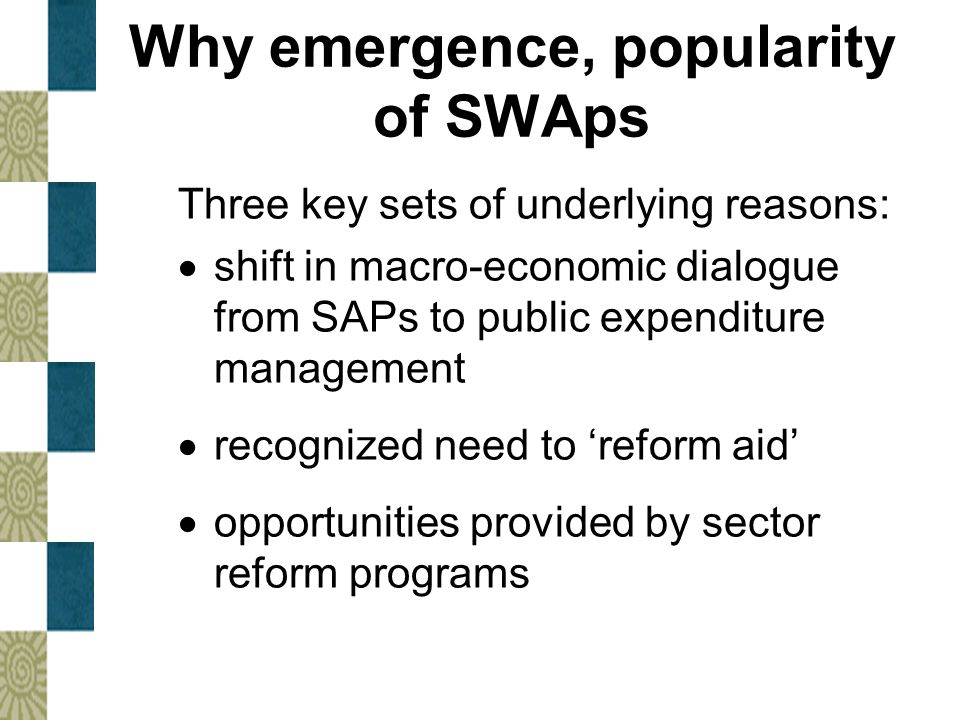 Why emergence, popularity of SWAps