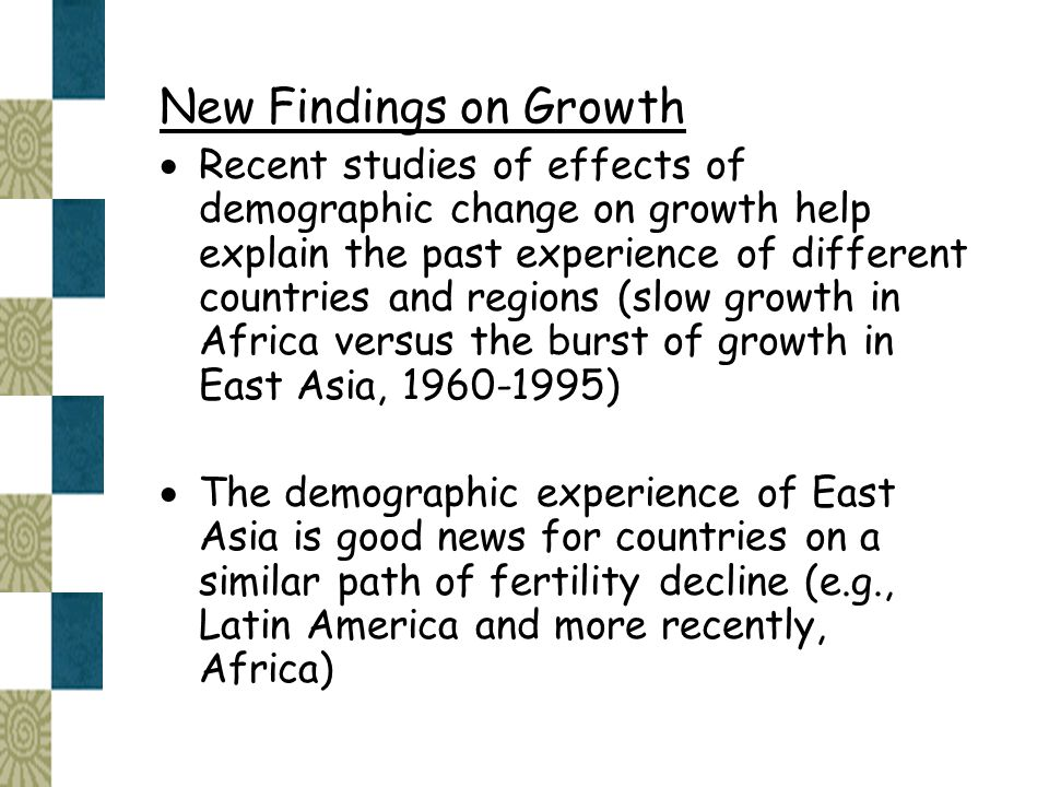 New Findings on Growth