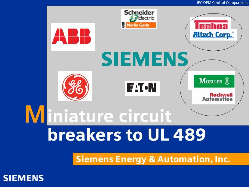 M iniature circuit breakers to UL 489