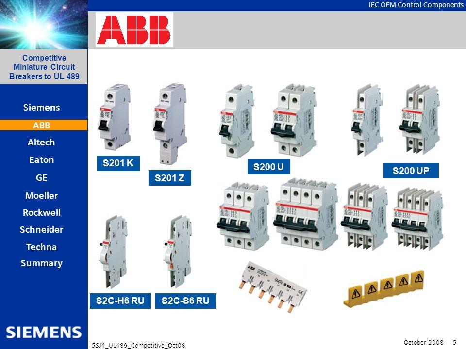 ABB S201 K S200 U S200 UP S201 Z S2C-H6 RU S2C-S6 RU
