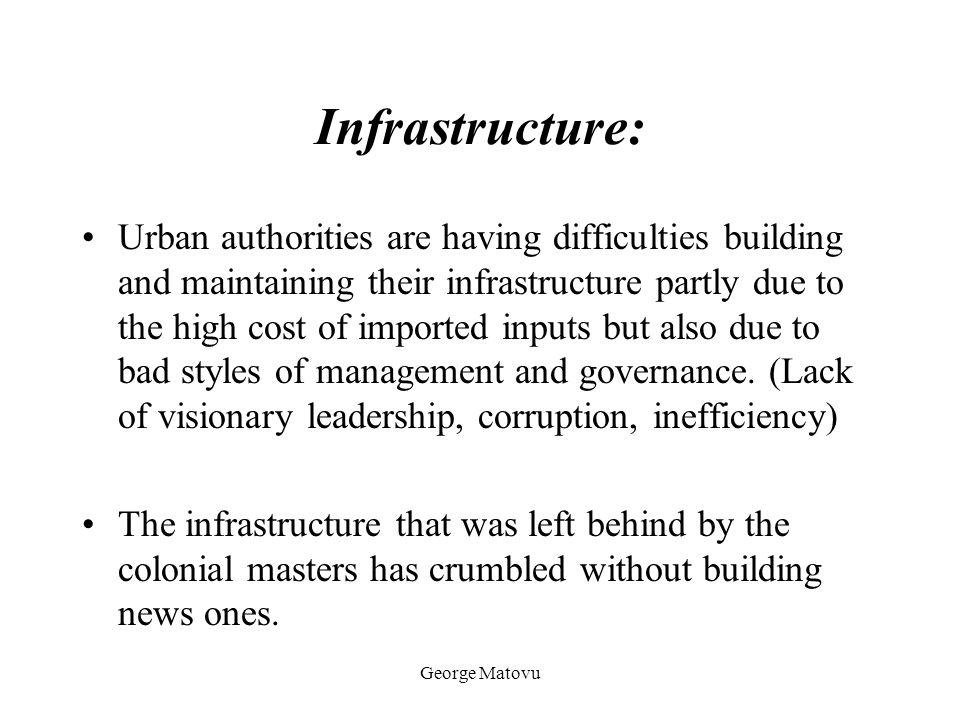 Infrastructure: