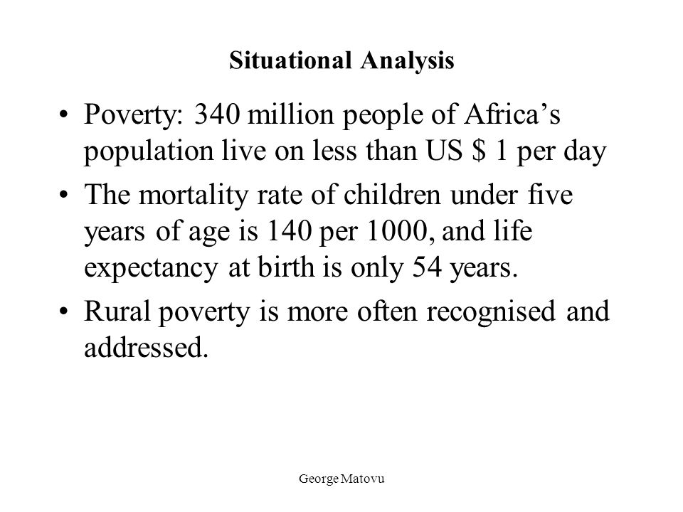 Rural poverty is more often recognised and addressed.