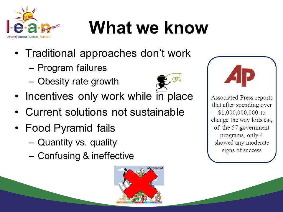 What we know Traditional approaches don't work