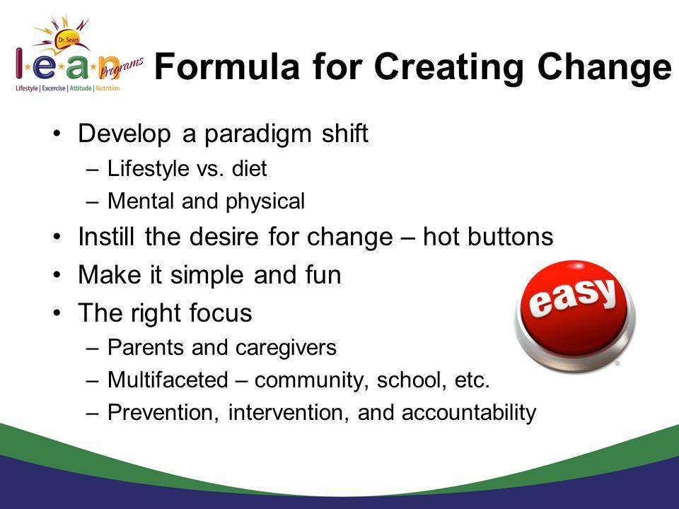 Formula for Creating Change