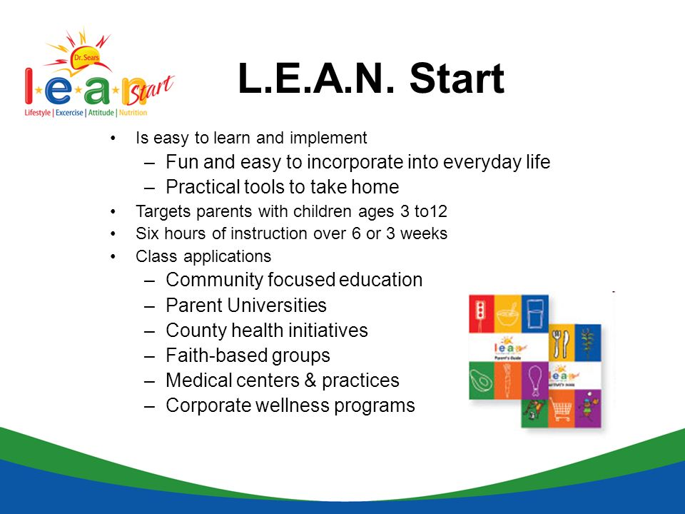 L.E.A.N. Start Fun and easy to incorporate into everyday life