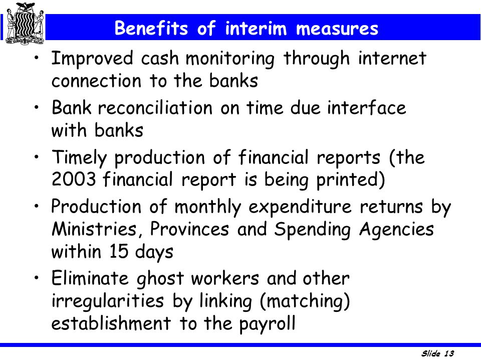Benefits of interim measures