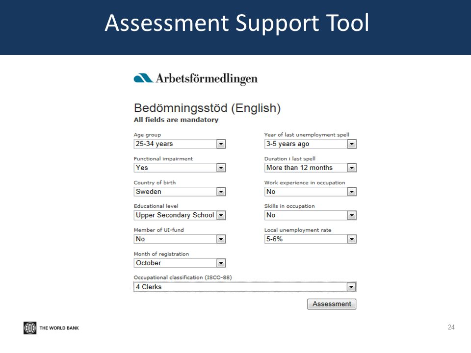 Assessment Support Tool