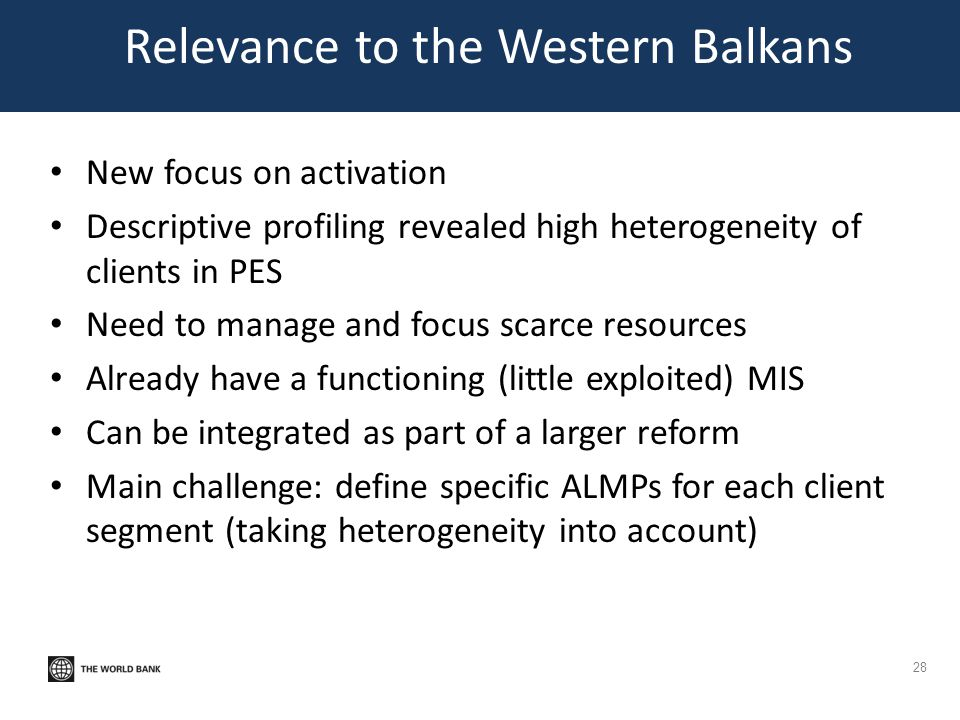 Relevance to the Western Balkans