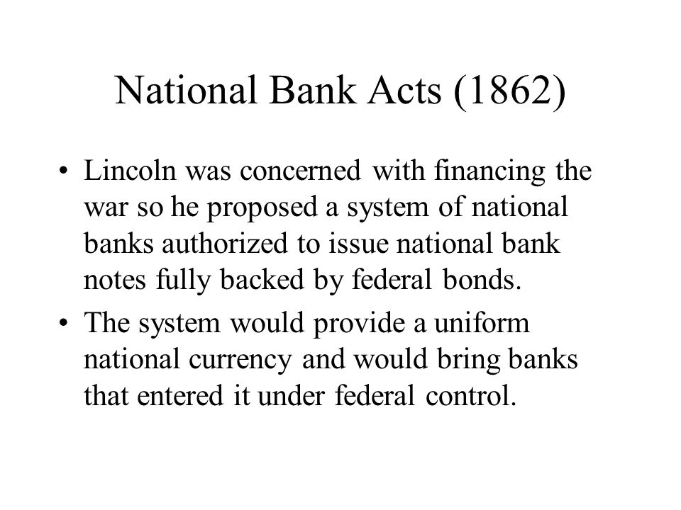 National Bank Acts (1862)