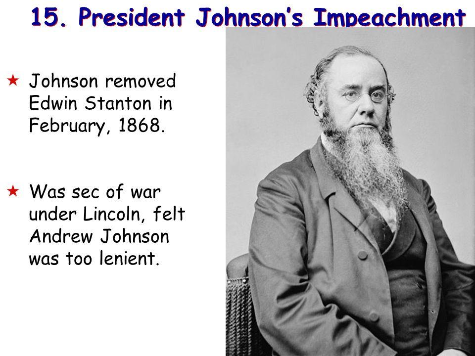 15. President Johnson's Impeachment