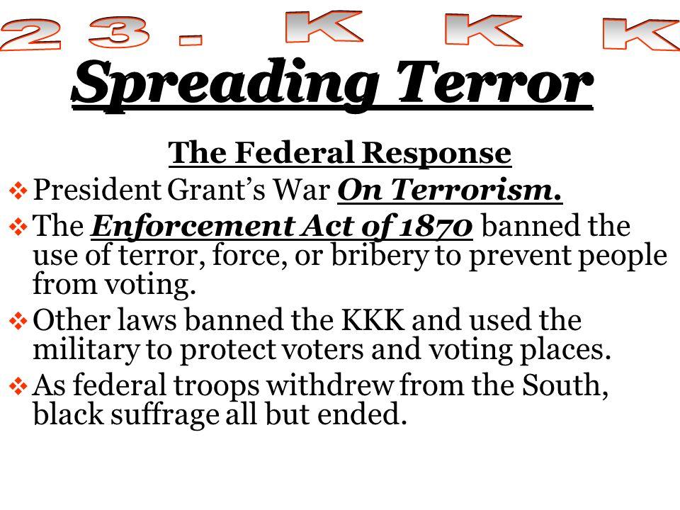 Spreading Terror 23. K K K The Federal Response