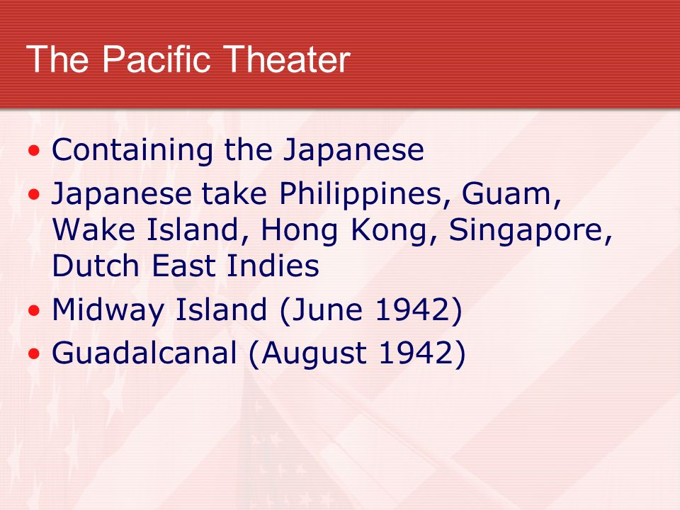 The Pacific Theater Containing the Japanese