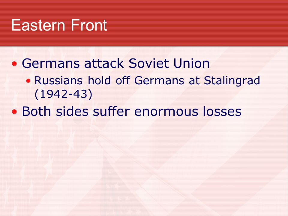 Eastern Front Germans attack Soviet Union