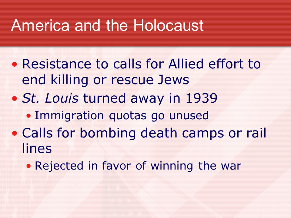 America and the Holocaust