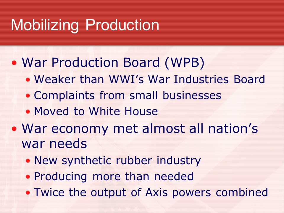 Mobilizing Production