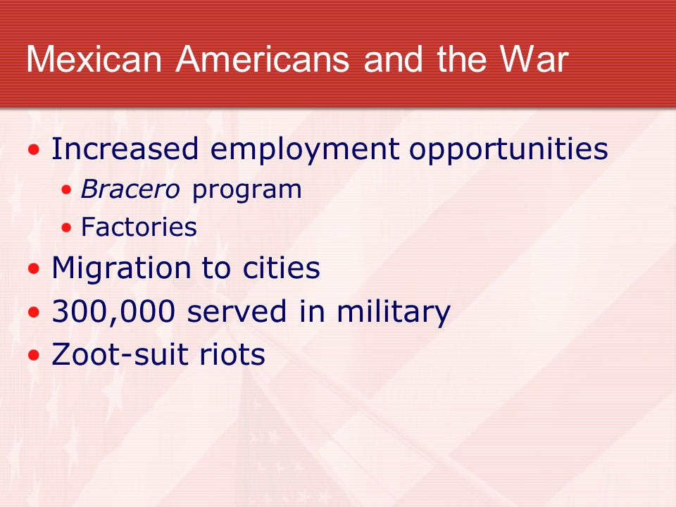Mexican Americans and the War