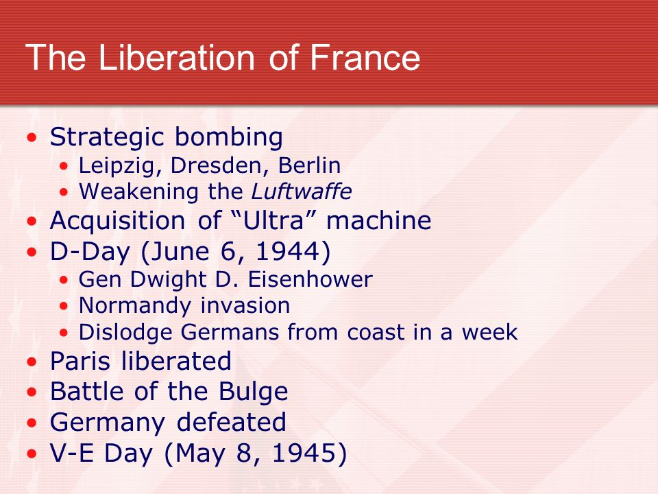The Liberation of France
