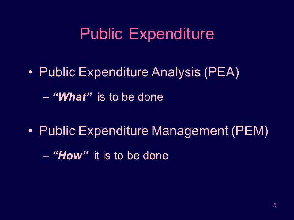 Public Expenditure Public Expenditure Analysis (PEA)
