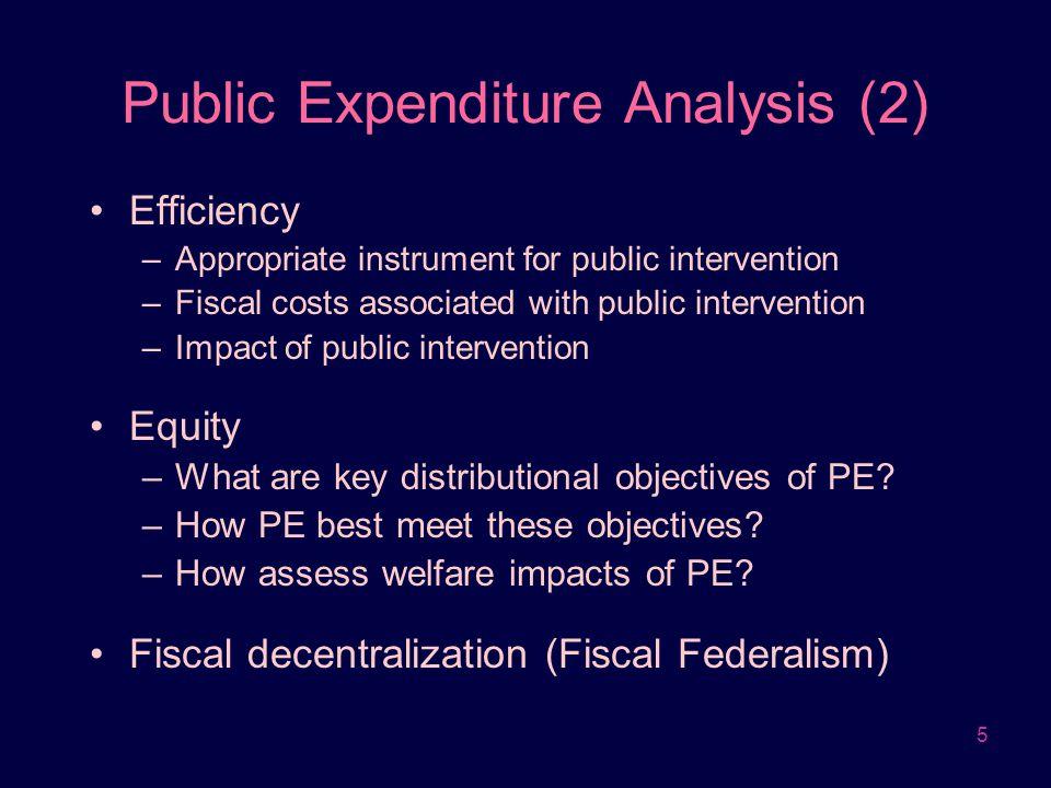 Public Expenditure Analysis (2)