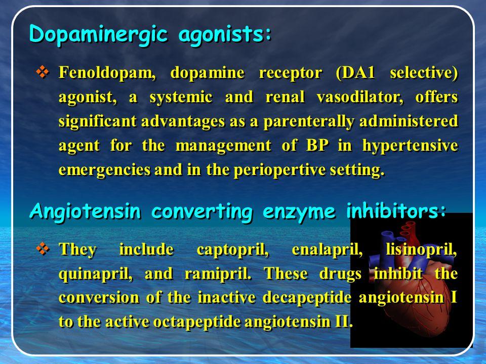 Dopaminergic agonists: