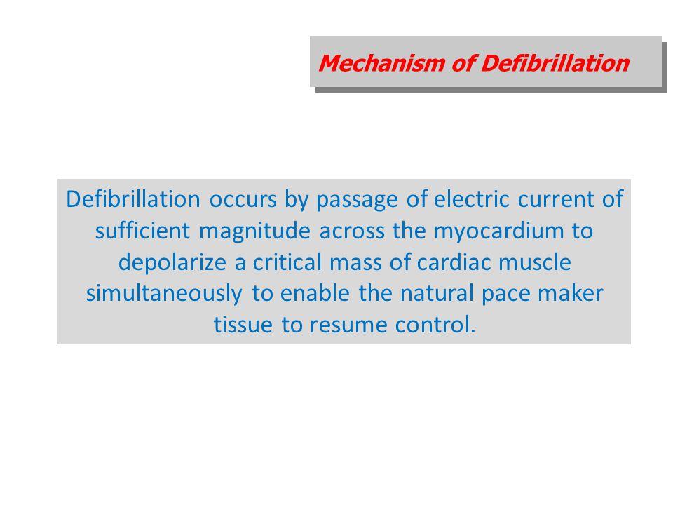 Mechanism of Defibrillation