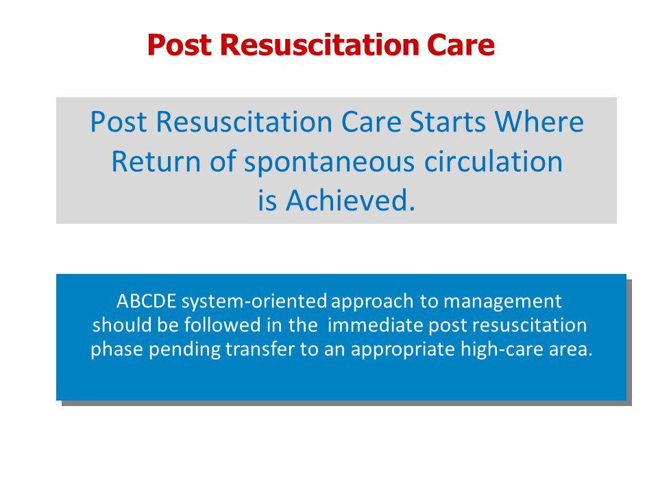 Post Resuscitation Care