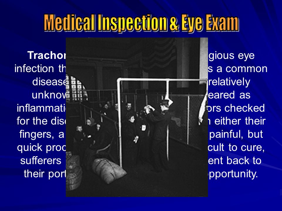 Medical Inspection & Eye Exam