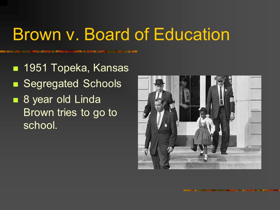 What was the significance of the Brown vs. Board of Education ruling by the Supreme Court?