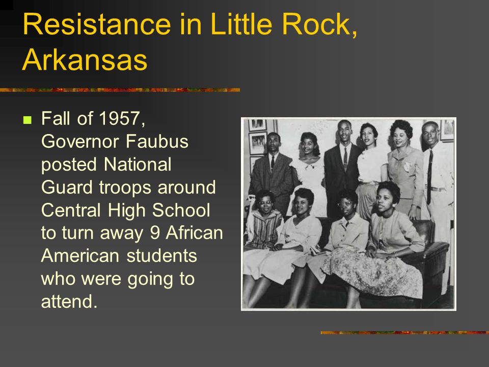 Resistance in Little Rock, Arkansas