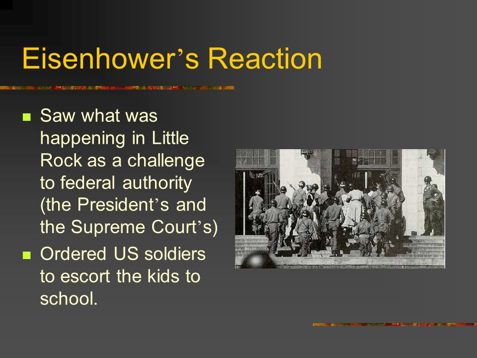 Eisenhower's Reaction
