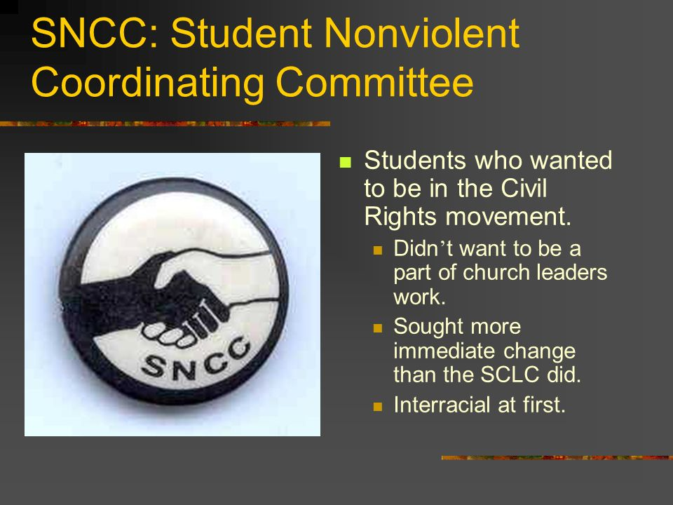 SNCC: Student Nonviolent Coordinating Committee